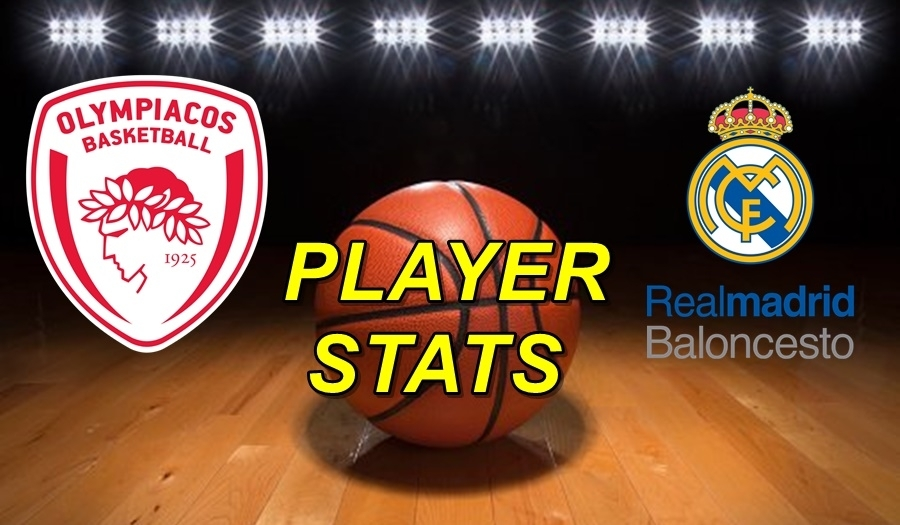 Olympiacos-Real Madrid Player Stats